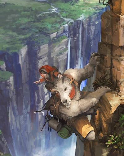 ilovefantasyart_-_Title_Goat_of_the_Mountain__Artist_flyinghand___picoftheday__instagood__digitalart__digitalpainting__fantasy__followme__sweet__ilovefantasyart__cool__inspiring__cgsociety__artstation__omg__best__followme__art